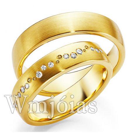 Aliança de ouro WM3013
