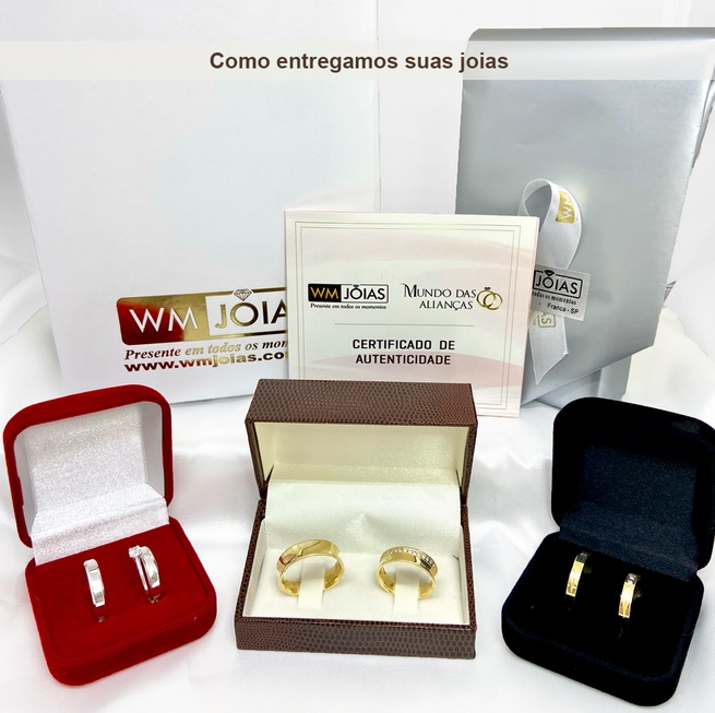 Aliança de prata e ouro  para namoro e compromisso ou noivado WM3117