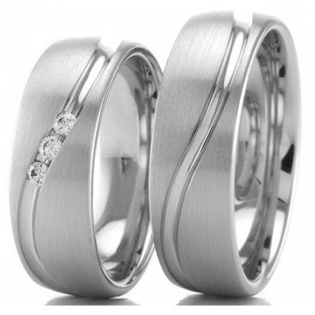 Aliança de prata para compromisso WM3221