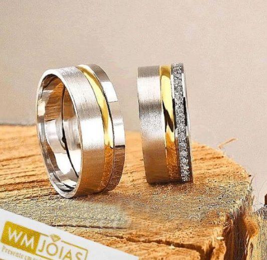 Aliança de prata para namoro  Peso 14 gramas Largura 7mm - WM10048