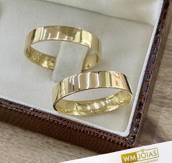 Aliança em ouro 18k 5mm WM10254