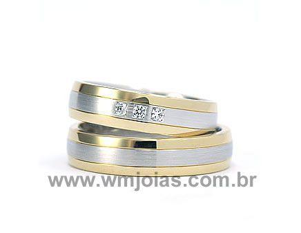 Aliança em ouro 18k 750 WM1928
