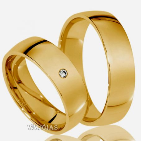Alianças Evangélicas em ouro 18k WM3130