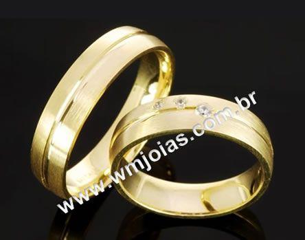 Alianca para casamento WM2048