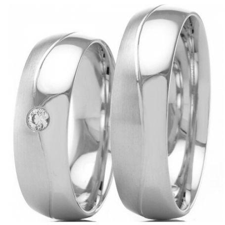 Aliança para namoro em prata 12G 6mm- WM3223