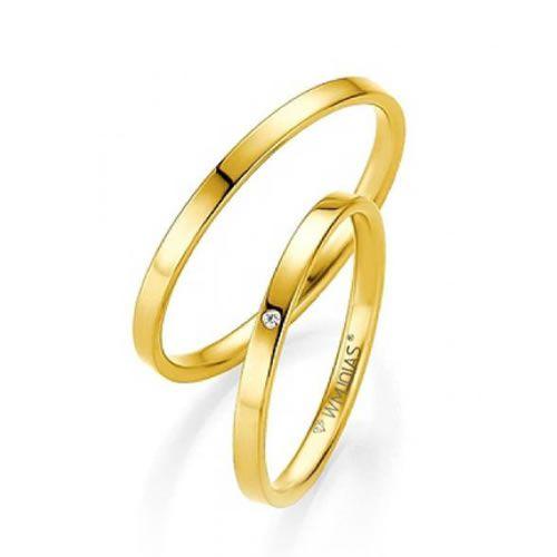 Alianças Casamento Ouro Amarelo Acabamento Liso 3mm - WM9283