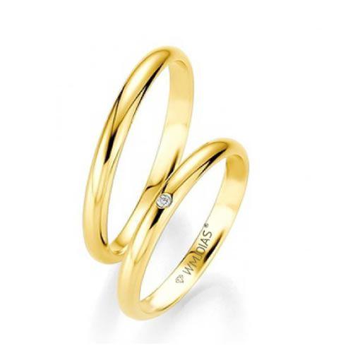 Alianças Casamento Ouro Acabamento Liso 3mm - WM9285