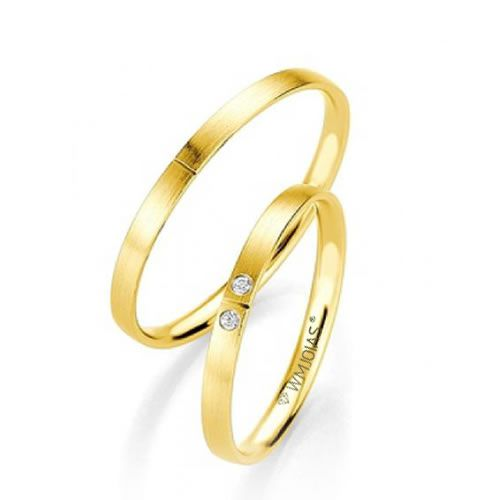 Alianças Ouro Amarelo Acabamento Liso 3mm - WM9291