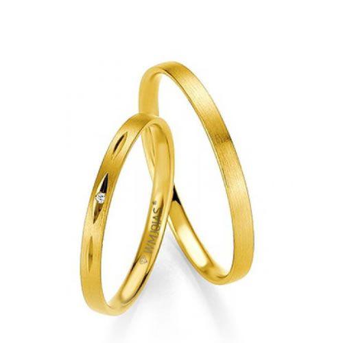 Alianças Baratas Casamento Ouro 2,8mm - WM9295