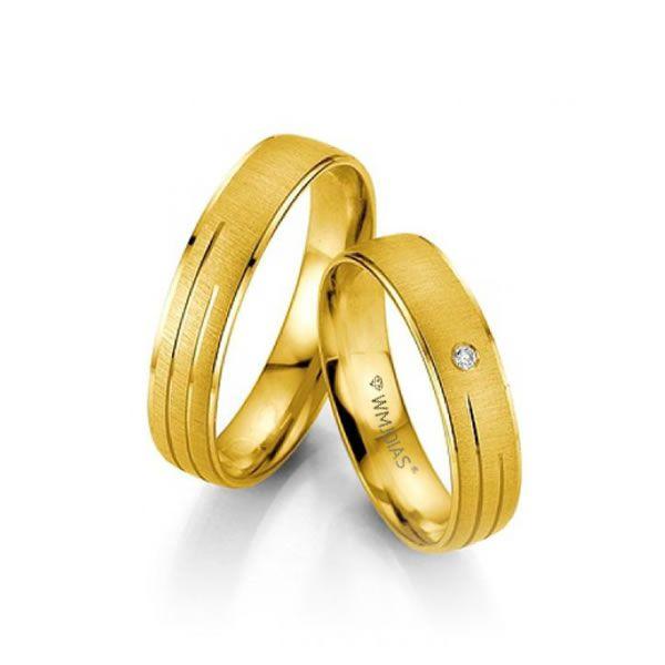 Alianças Casamento Ouro Amarelo 18k 4mm - WM9303