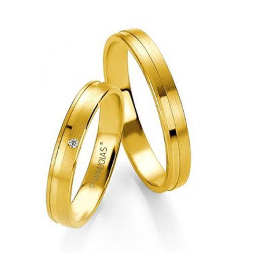 Alianças Baratas Ouro Amarelo 4,5mm - WM9313