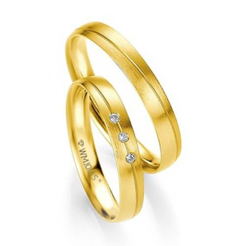 Alianças Baratas em ouro 18k - 4  gramas o par  e 4 mm -WM9327