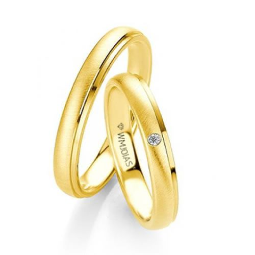 Alianças de Noivado Baratas em ouro 18k e Diamantes WM9335