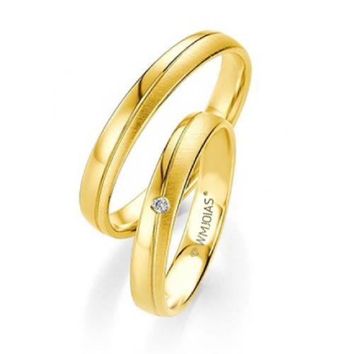 Alianças de Casamento ouro e diamantes WM9337