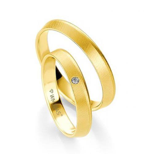 Alianças Baratas em ouro 18 - 4 gramas e 3,5mm -WM9341