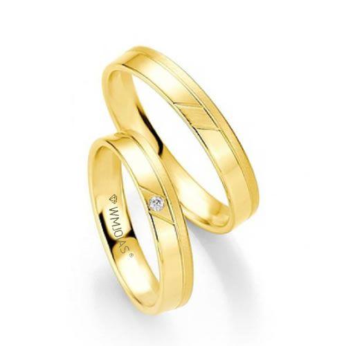 Alianças Baratas em ouro para noivado - 4 gramas o par e 4,2mm - WM9269