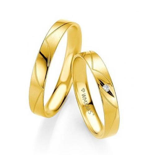 Alianças Baratas ouro amarelo 4mm de largura e 4,3 gramas - WM9347