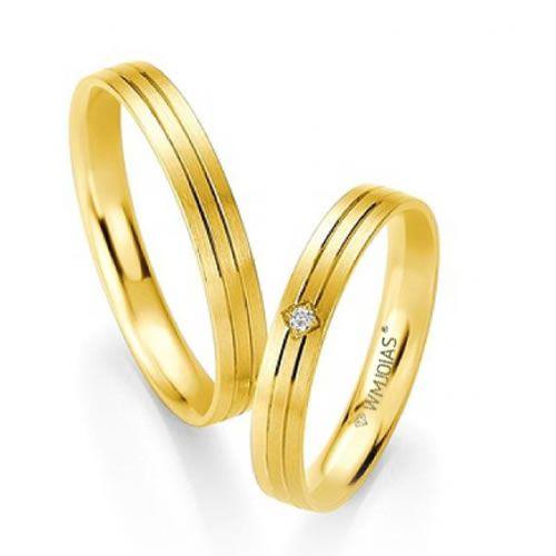 Alianças Baratas em ouro - 4 gramas o par e 4mm - WM9349