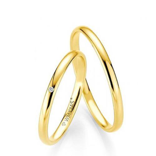 Alianças Baratas casamento 2 mm e 2,5 gramas o par- WM9279