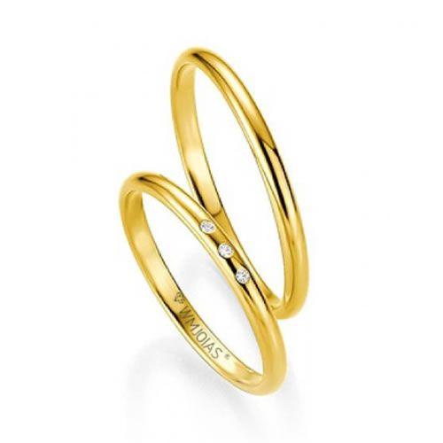 Alianças Baratas casamento 2,8 mm e 3 gramas o par- WM9281