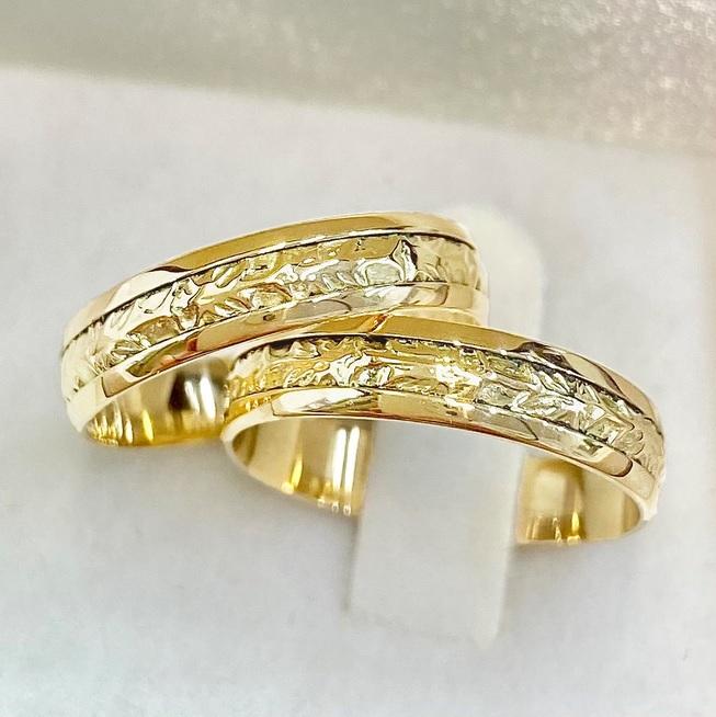 Aliancas  bodas de ouro WM10327