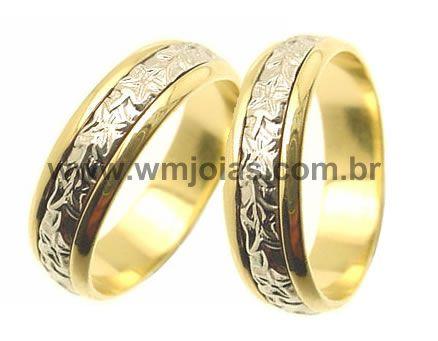 Aliancas  bodas de  prata WM1882