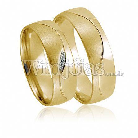 Alianças casamento Olímpia WM2285