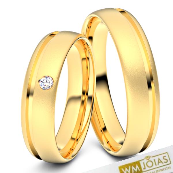 Alianças Chicago casamento e noivado 4mm WM10337