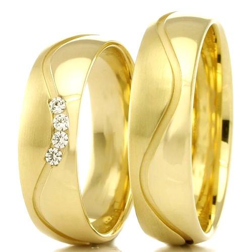 Alianças de casamento apaixonados WM2306