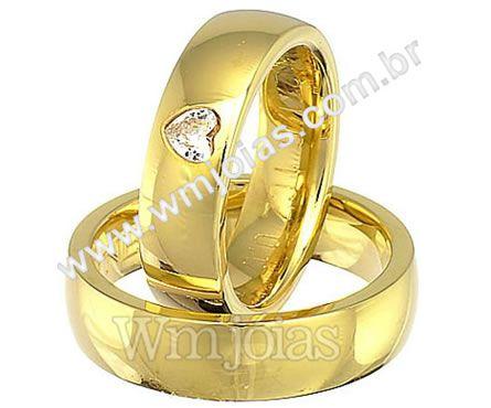 Aliancas de casamento coração