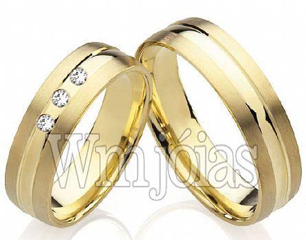 Alianças de casamento dafiti WM2208