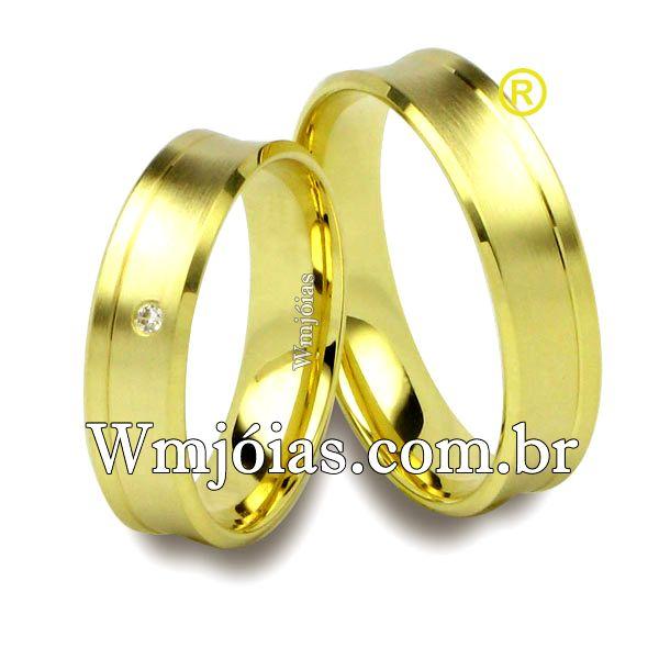Aliancas de casamento e noivado 18k 750 WM2518