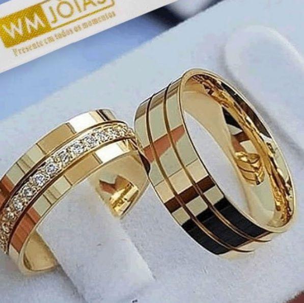 Alianças de casamento e Noivado  Peso 11 gramas o par Largura 5,5mm- WM10025