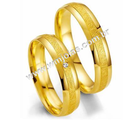 Aliancas de casamento e noivado WM2011