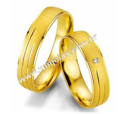 Aliancas de casamento e noivado WM2013