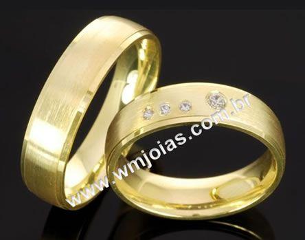Alianças de casamento e noivado WM2078