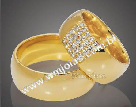 Aliancas  de casamento e noivado WM2099