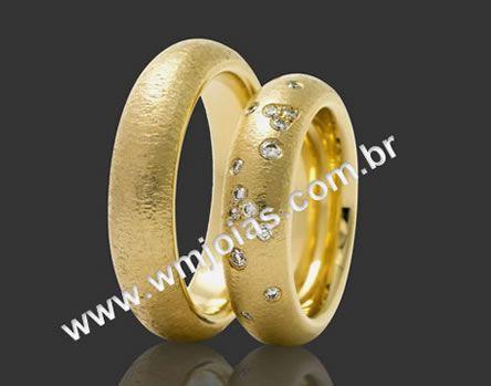 Aliancas  de casamento e noivado WM2108