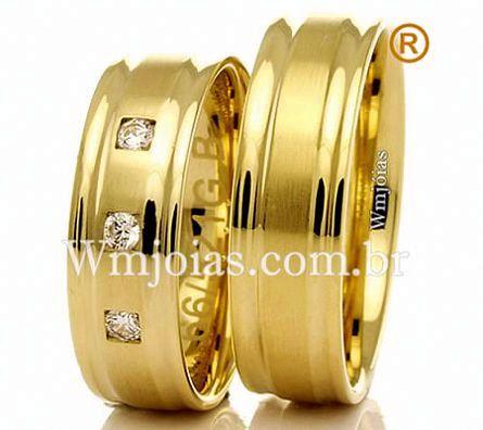 Alianças de casamento e noivado WM2305