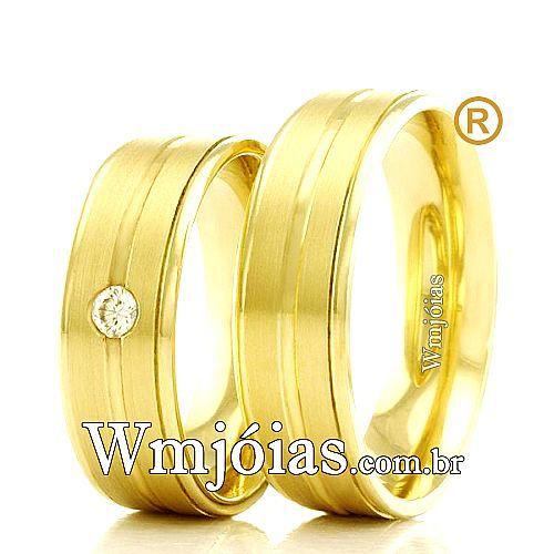 Aliancas de casamento e noivado WM2325
