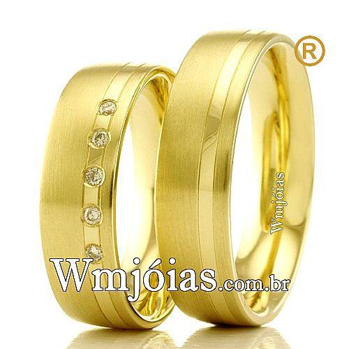 Aliancas de casamento e noivado WM2354
