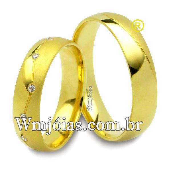 Aliancas de casamento e noivado WM2504