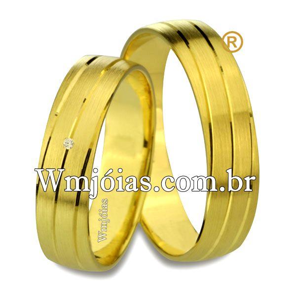 Aliancas  de casamento e noivado WM2526