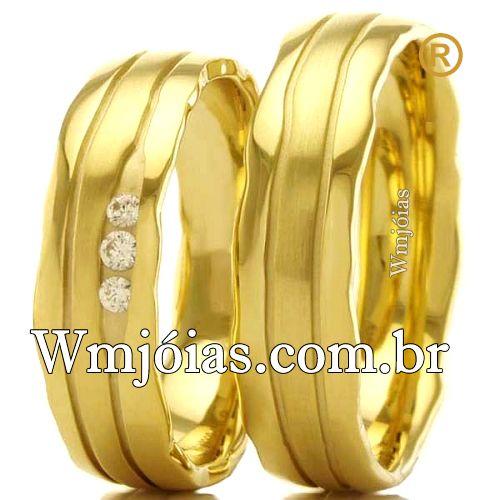 Aliancas de casamento e noivado WM2535