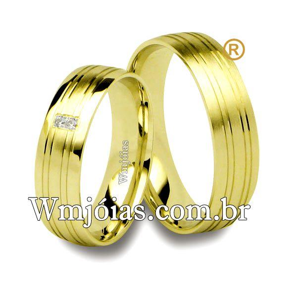 Aliancas de casamento e noivado WM2551