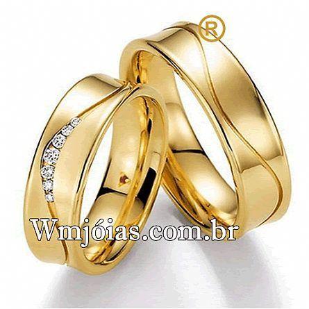 Alianças de casamento e noivado WM2645