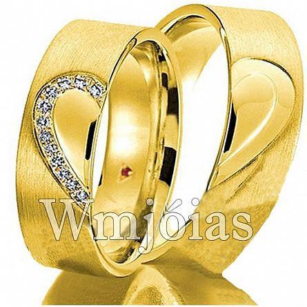 Alianças de casamento em ouro 18k WM2950