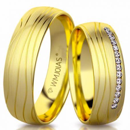 Alianças de casamento personalizada WM3143