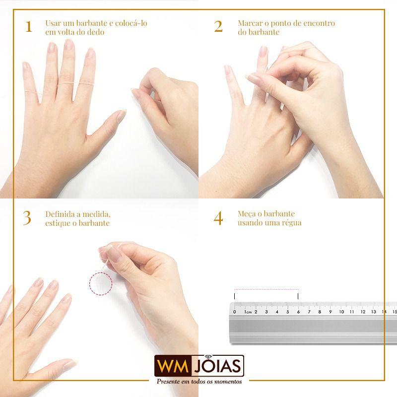 Alianças de Compromisso, Design Moderno, em ouro branco, com 18g e 7mm - WM3060