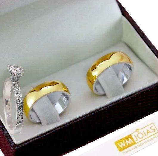 Alianças de noivado abalauda com 6 mm de largura WM10237